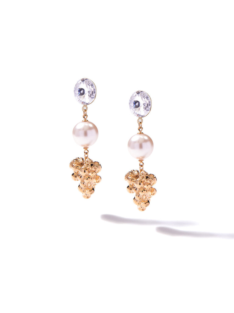 GOLDEN FRUIT EARRINGS (GRAPE)
