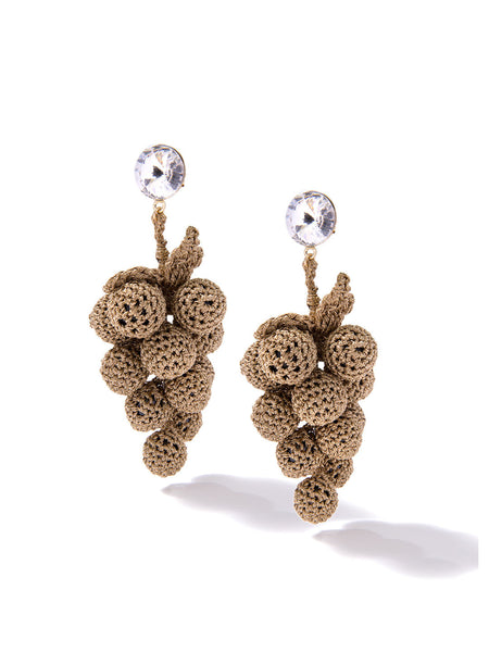 HAVE A GRAPE DAY EARRINGS (GOLD)
