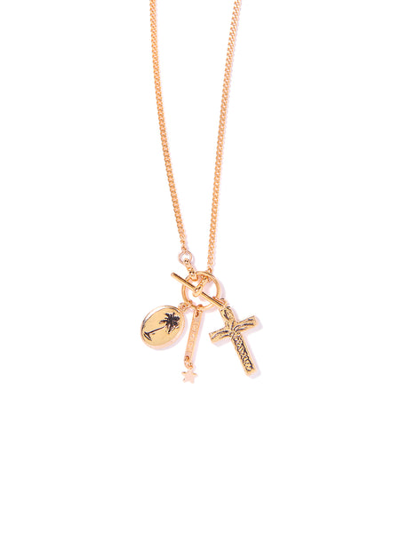 PALM TREES IN PARADISE NECKLACE (GOLD)