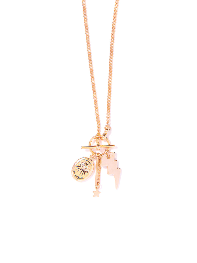 CHASING LIGHTNING NECKLACE (GOLD)