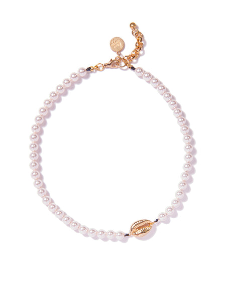 SHELLFIE PEARL NECKLACE (GOLD)
