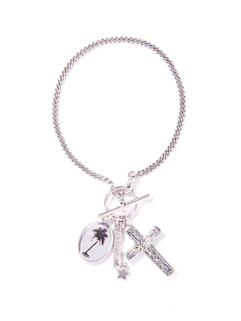 PALM TREES IN PARADISE BRACELET (SILVER)
