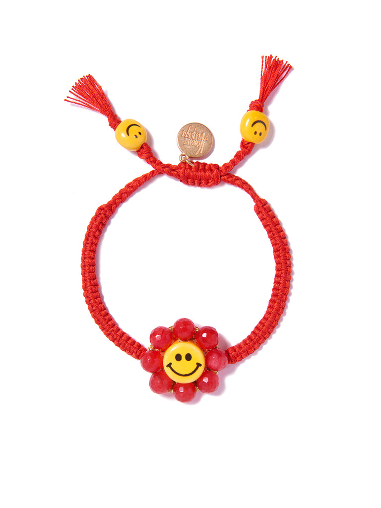 HAPPY FLOWER BRACELET (RED)