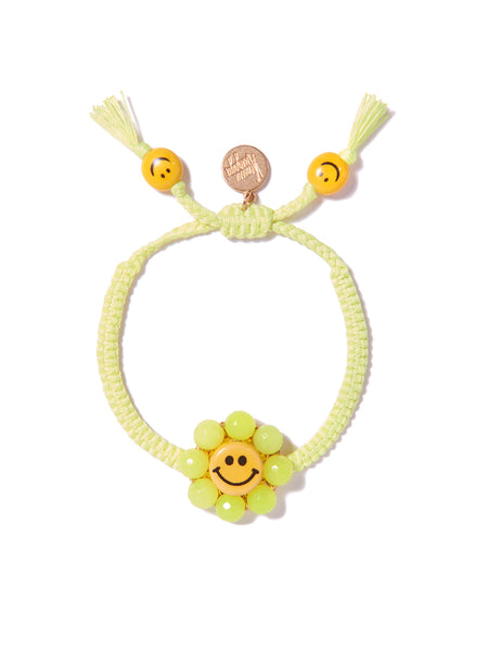 HAPPY FLOWER BRACELET (NEON YELLOW)