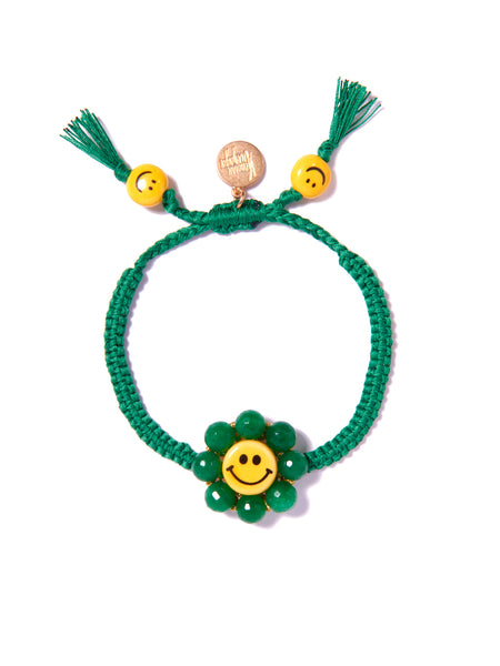 HAPPY FLOWER BRACELET (GREEN)