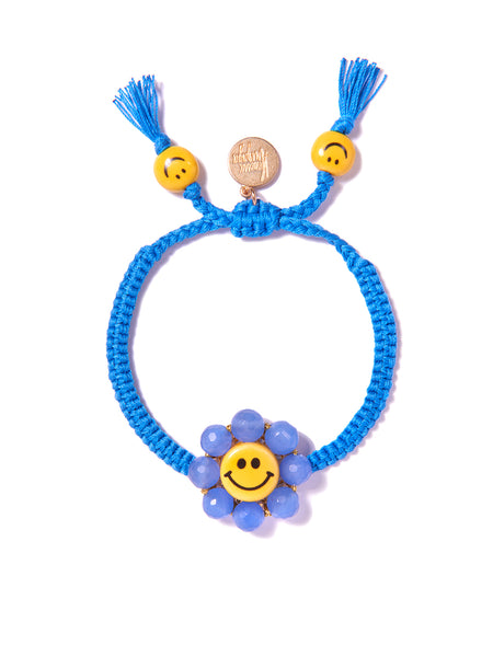 HAPPY FLOWER BRACELET (BLUE)