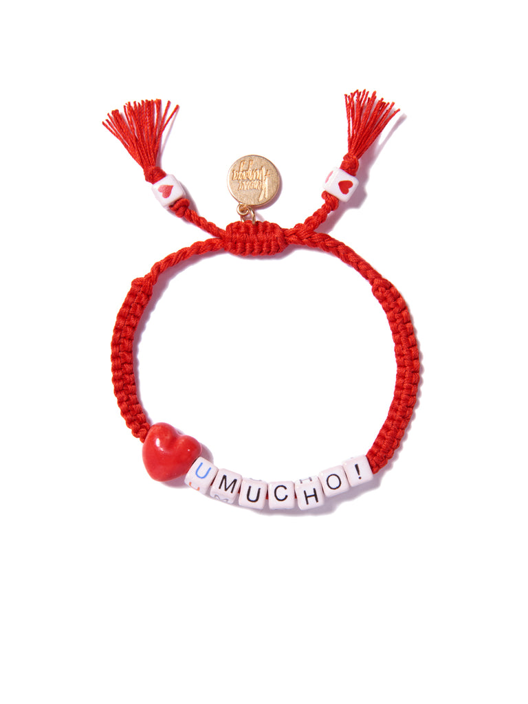 LOVE YOU MUCHO BRACELET (RED)