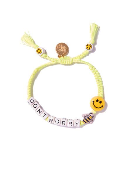 DON'T WORRY BEE HAPPY BRACELET (NEON YELLOW)