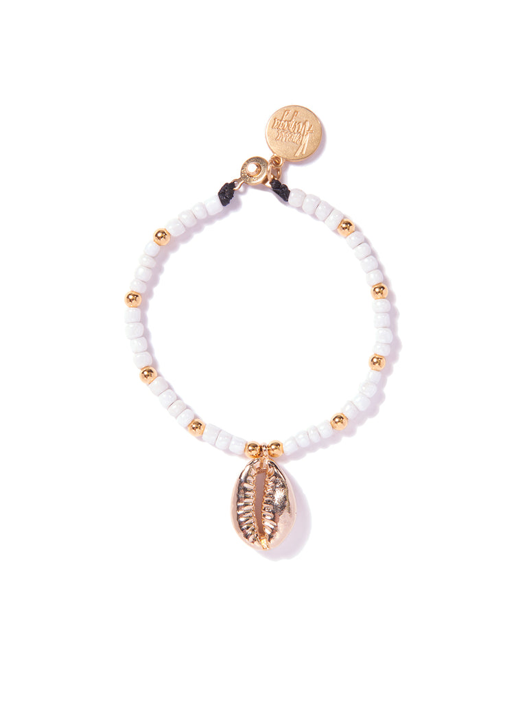 SHELL YEAH! BRACELET (WHITE AND GOLD)