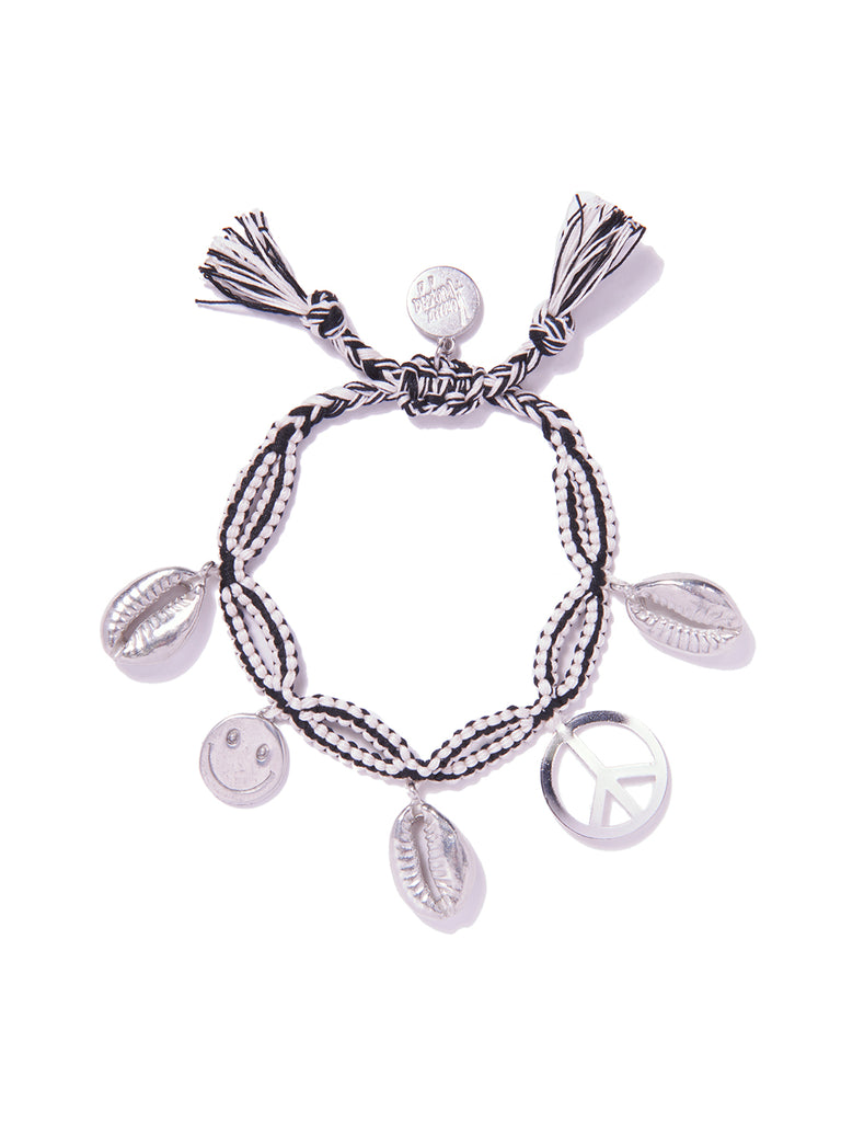 SMILE FOR PEACE BRACELET (BLACK AND WHITE) BRACELET - Venessa Arizaga