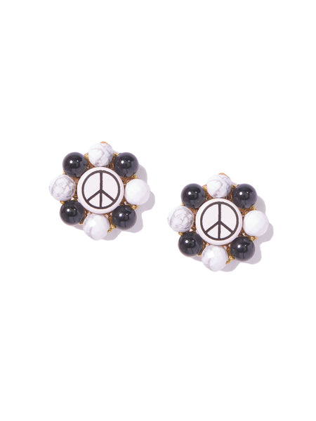 PEACE FLOWER EARRINGS