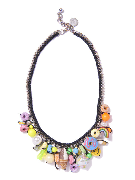 THE SWEET LIFE NECKLACE (BLACK)