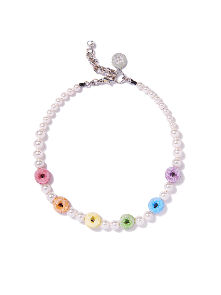 RAINBOW LOOPS PEARL NECKLACE NECKLACE - Venessa Arizaga