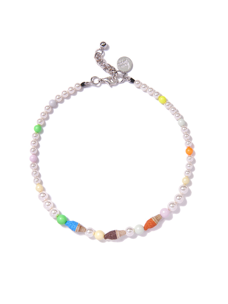 GAME OF CONES PEARL NECKLACE (RAINBOW)