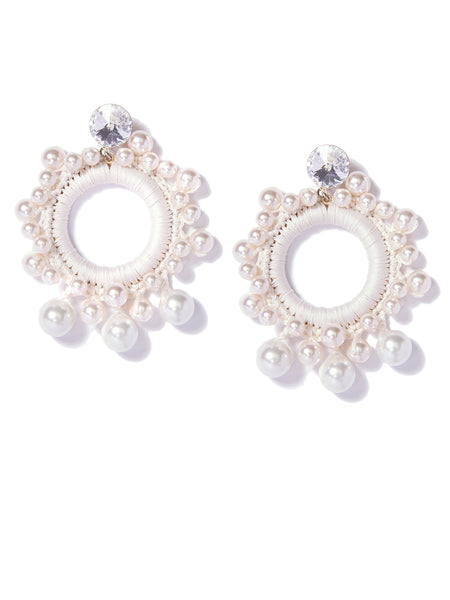 BERRY SWEET PEARL EARRINGS (CREAMROSE)