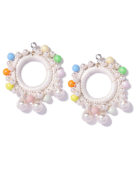 CANDY PEARLS EARRINGS (WHITE)