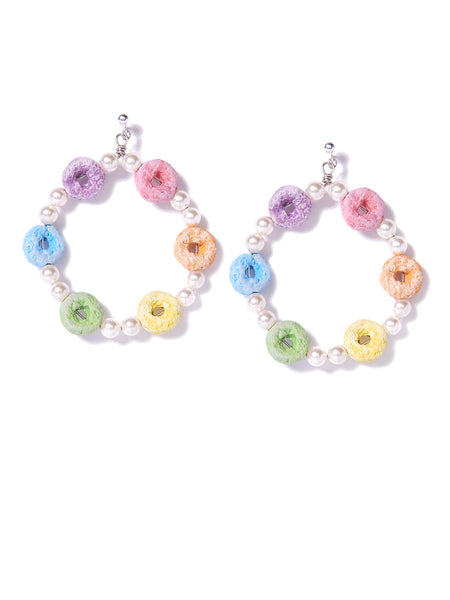 RAINBOW LOOPS PEARL EARRINGS