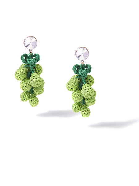 HAVE A GRAPE DAY EARRINGS (GREEN)
