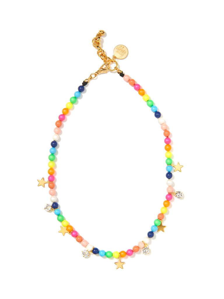 STARS IN THE SKY PEARL NECKLACE (RAINBOW)