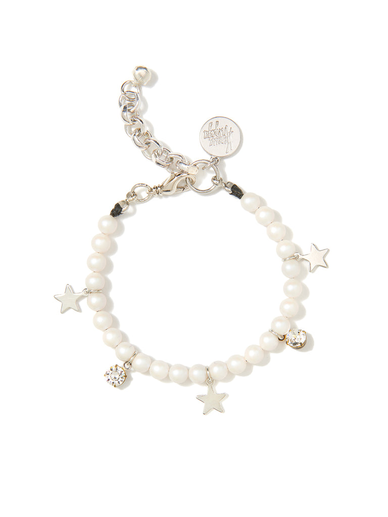 STARS IN THE SKY PEARL BRACELET (WHITE)