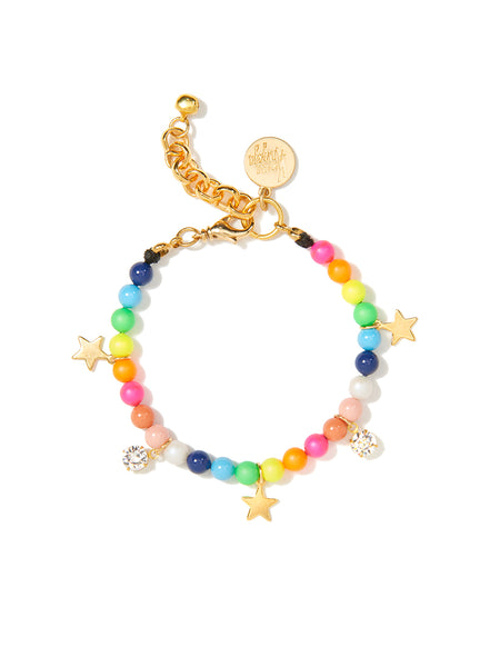 STARS IN THE SKY PEARL BRACELET (RAINBOW)