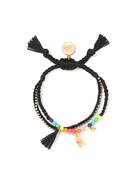 PEACE BABE BRACELET (BLACK)