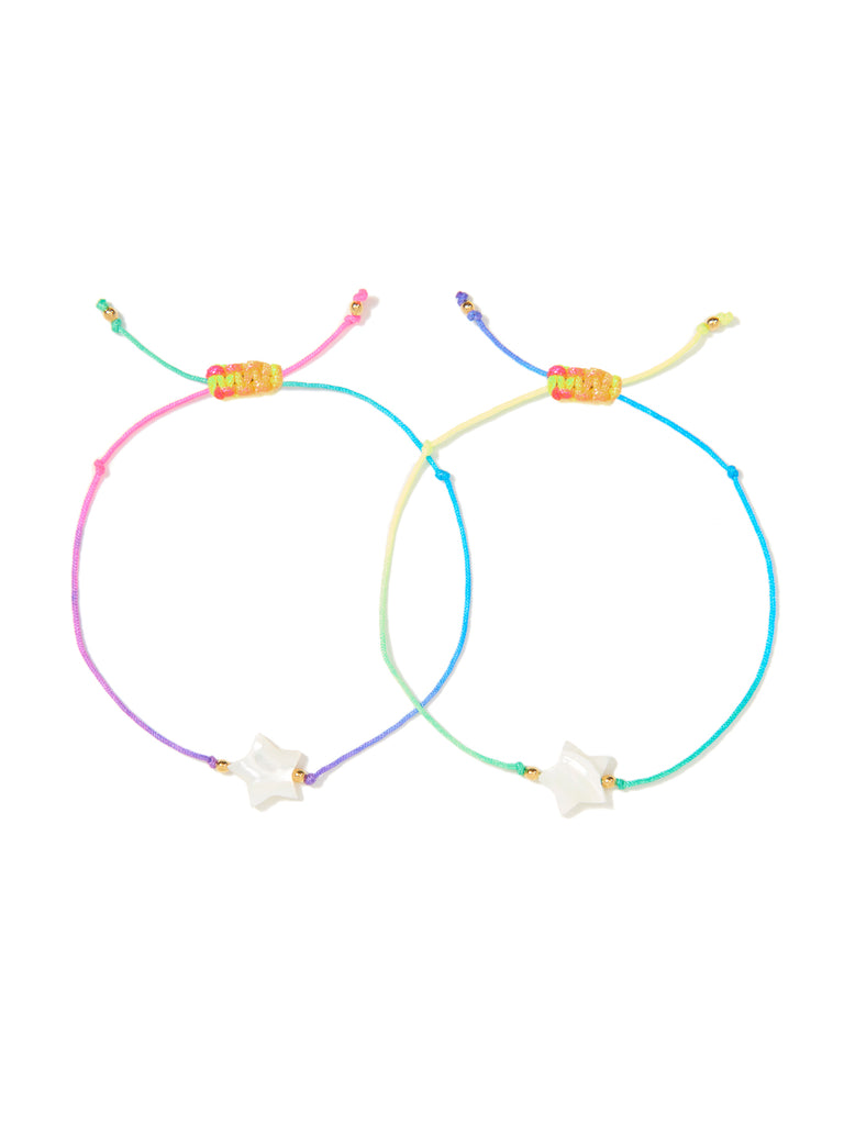 TWIN STARS BRACELET SET (RAINBOW)