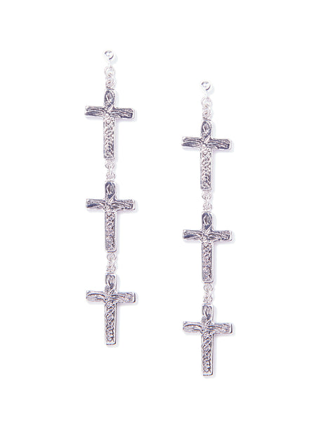PRAY FOR RAIN EARRINGS (SILVER)