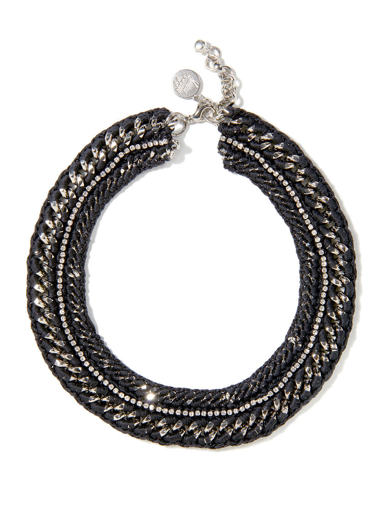 COSMIC HALO NECKLACE (BLACK)