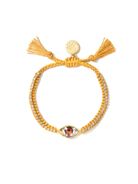 CRYSTAL EYE BRACELET (GOLD)