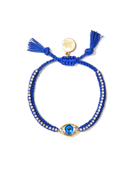 CRYSTAL EYE BRACELET (BLUE)