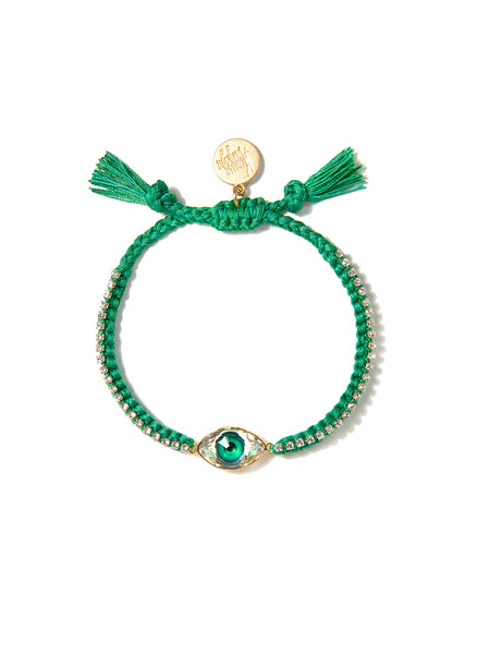 CRYSTAL EYE BRACELET (GREEN)