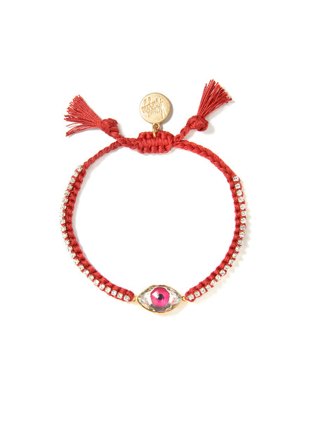 CRYSTAL EYE BRACELET (RED)