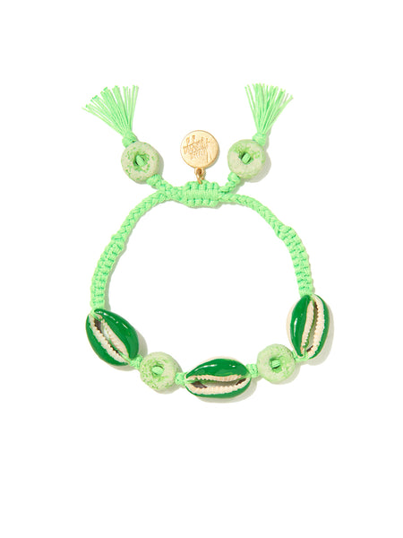 LOOPY SHELL BRACELET (GREEN)