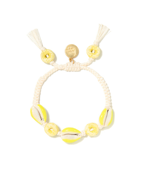 LOOPY SHELL BRACELET (WHITE)