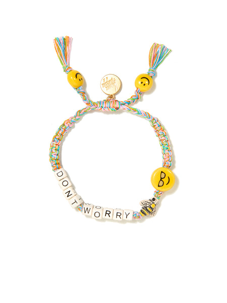 DON'T WORRY BEE HAPPY BRACELET (RAINBOW)