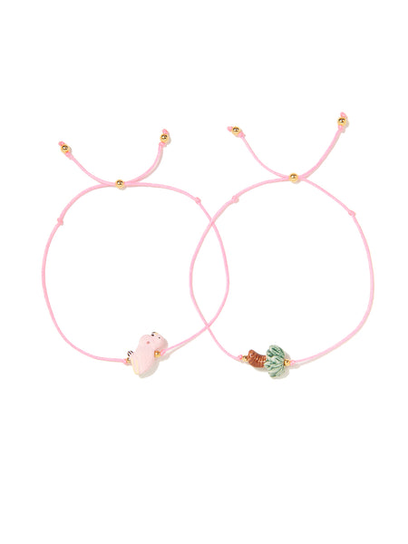 PALM FLAMINGO BRACELET SET