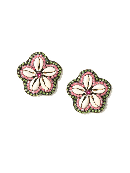 COWRIE FLOWER EARRINGS