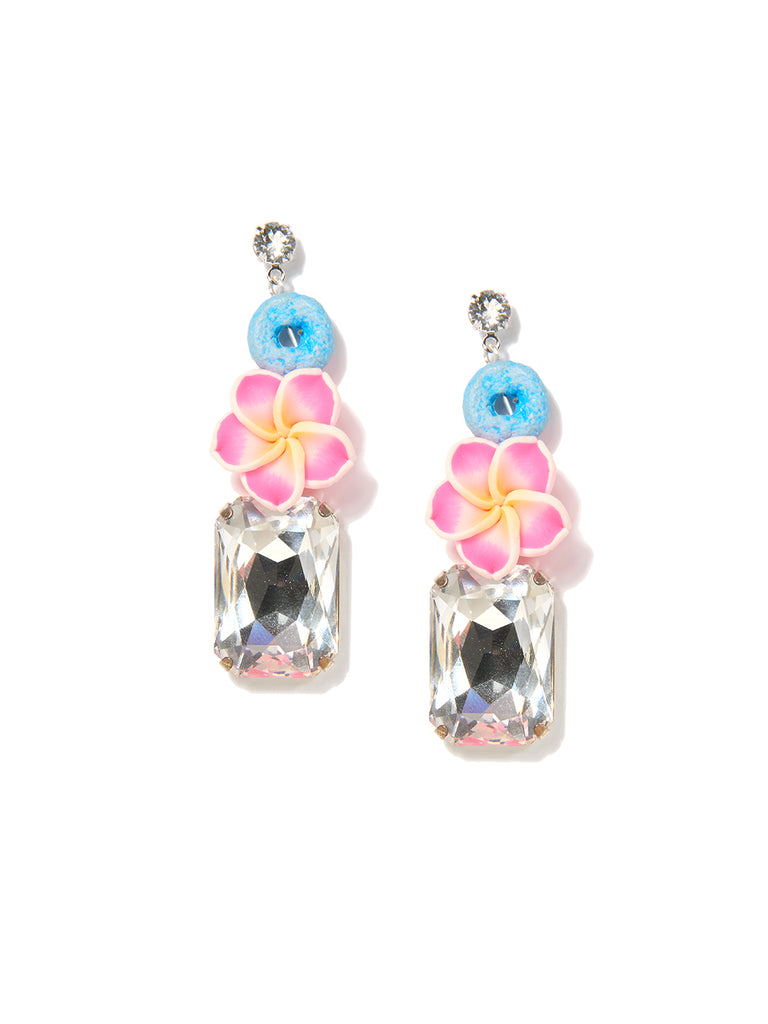 PRETTY PLUMERIA EARRINGS (PINK)