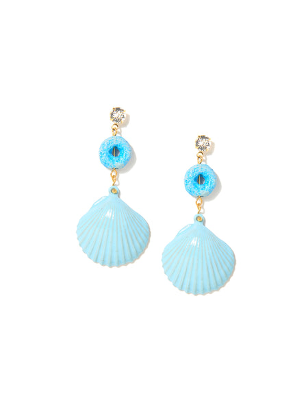 LOOPY SHELL EARRINGS