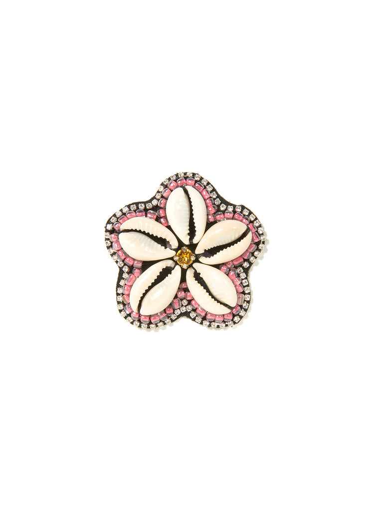COWRIE FLOWER PIN