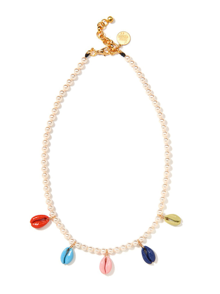 RAINBOW SHELL PEARL NECKLACE