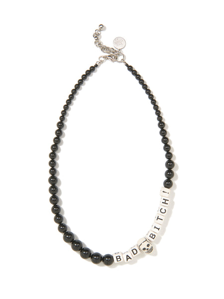 BAD BITCH PEARL NECKLACE (BLACK)