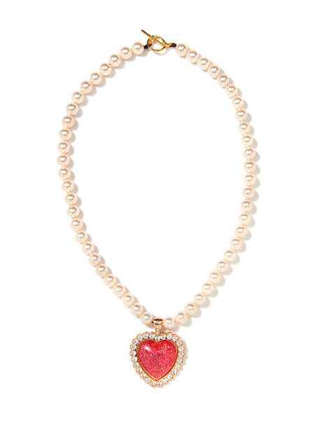 SHOW ME LOVE PEARL NECKLACE (RED)
