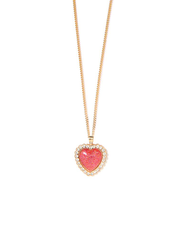 SHOW ME LOVE PENDANT NECKLACE (RED)