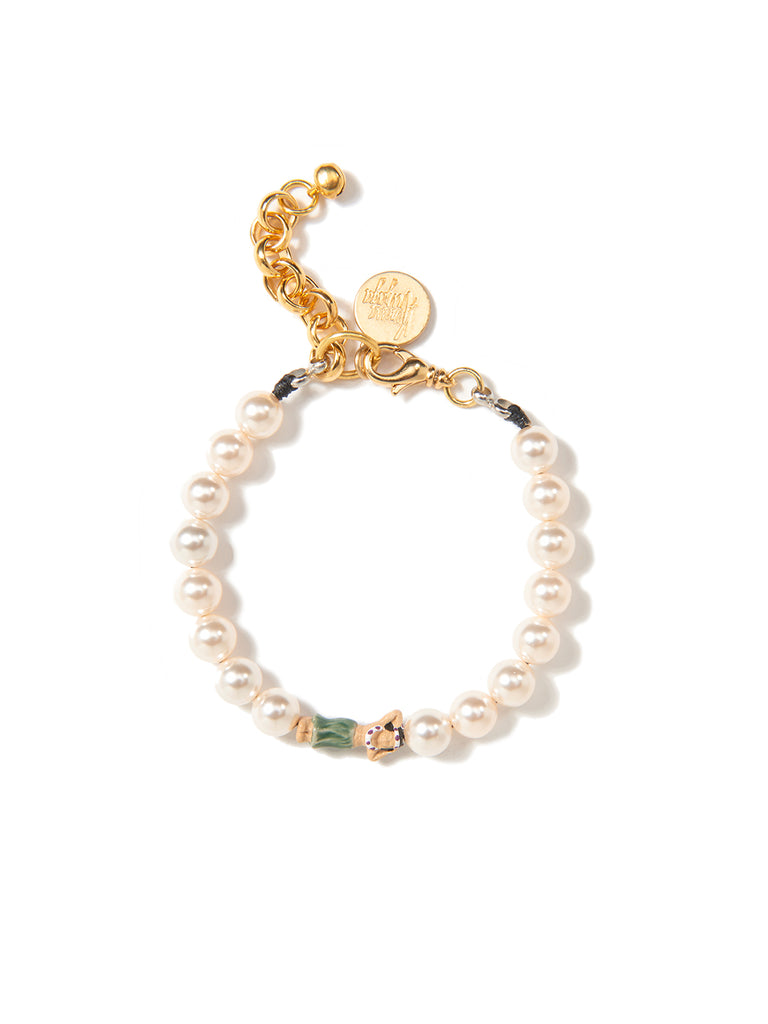 PEARLY SHELLS PEARL BRACELET