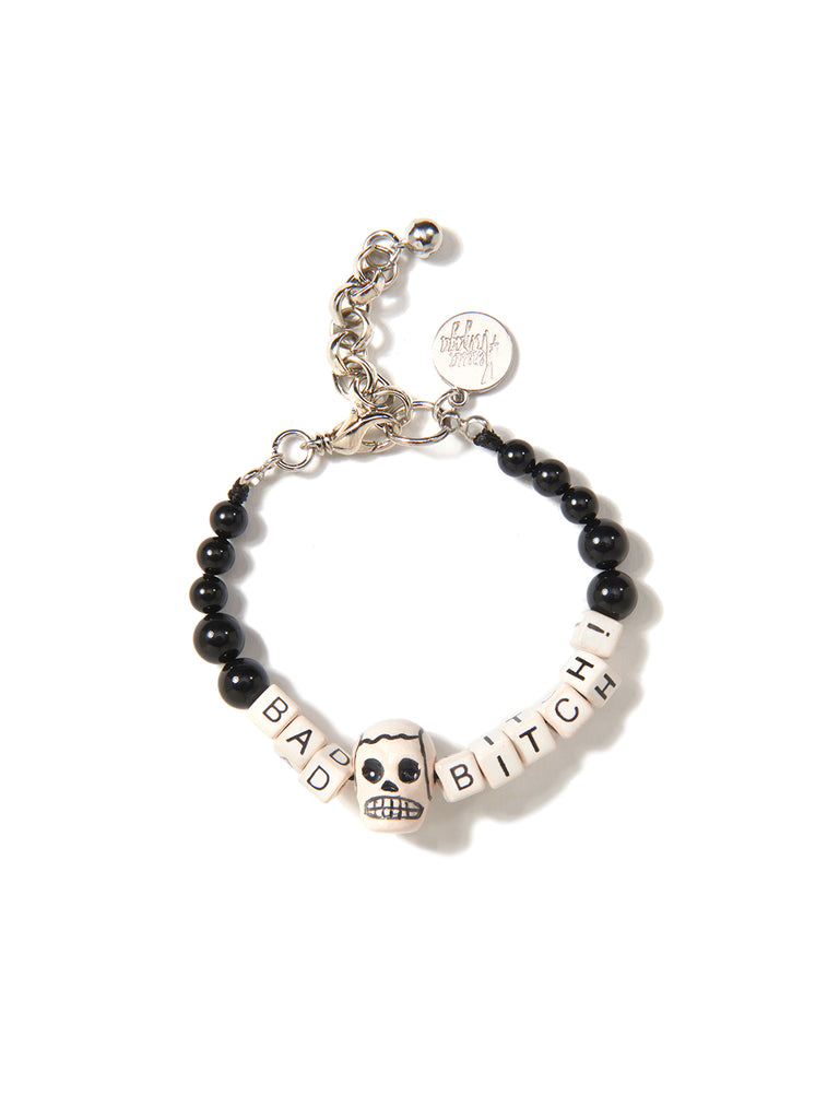 BAD BITCH PEARL BRACELET (BLACK)