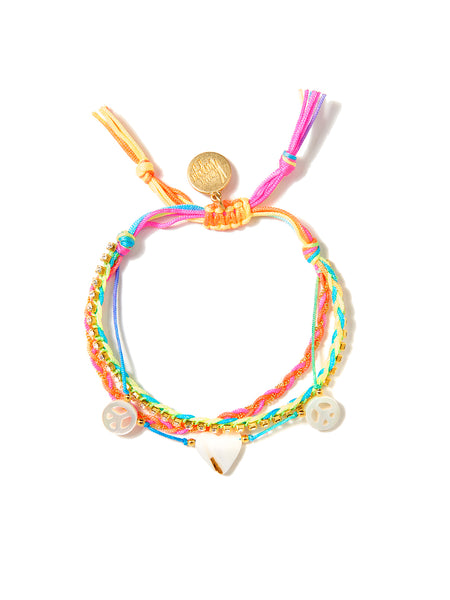 PEACE AND LOVE BRACELET