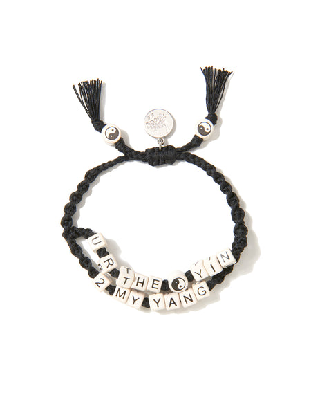 YOU'RE THE YIN TO MY YANG BRACELET (BLACK)