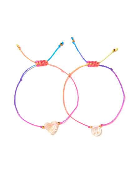 PEACE AND LOVE BRACELET SET